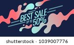 bright colorful poster sale 50... | Shutterstock .eps vector #1039007776