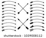 arrows in boho style. tribal...   Shutterstock .eps vector #1039008112