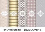 set of seamless geometric... | Shutterstock .eps vector #1039009846