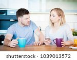 portrait of a young couple... | Shutterstock . vector #1039013572