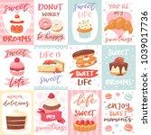 sweets lettering vector... | Shutterstock .eps vector #1039017736