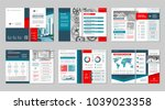 brochure creative design.... | Shutterstock .eps vector #1039023358