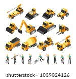isometric construction workers  ... | Shutterstock .eps vector #1039024126
