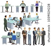 cooperation in the office and... | Shutterstock . vector #1039024228