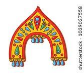 russian kokoshnik  traditinal...   Shutterstock .eps vector #1039027558