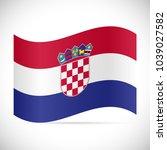 illustration of the flag from... | Shutterstock .eps vector #1039027582