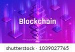 blockchain network concept... | Shutterstock .eps vector #1039027765
