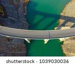 aerial drone view of bridge... | Shutterstock . vector #1039030036