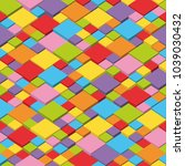 colorful isometric seamless...   Shutterstock .eps vector #1039030432