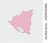 nicaragua map   high detailed... | Shutterstock .eps vector #1039034386