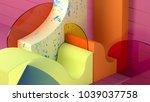 3d rendering abstract... | Shutterstock . vector #1039037758