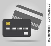 credit card icon  vector... | Shutterstock .eps vector #1039038322