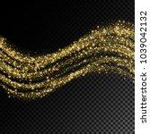 vector eps 10 golden glitter... | Shutterstock .eps vector #1039042132
