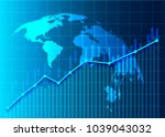 stock market and exchange of... | Shutterstock .eps vector #1039043032