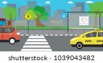 empty city street and road... | Shutterstock .eps vector #1039043482