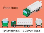 feed truck colored | Shutterstock .eps vector #1039044565