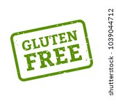 gluten free stamp sign white... | Shutterstock .eps vector #1039044712