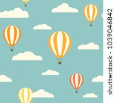 hot air baloons flying in the ... | Shutterstock .eps vector #1039046842