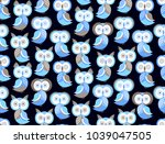 seamless vector pattern with... | Shutterstock .eps vector #1039047505