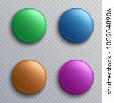 colorful blank button badges ... | Shutterstock .eps vector #1039048906
