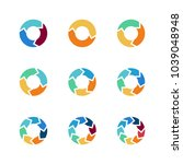 circle arrows vector elements...