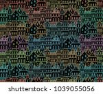 seamless vector pattern with... | Shutterstock .eps vector #1039055056