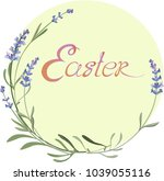 lavender for the easter holiday | Shutterstock .eps vector #1039055116