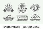 vintage baseball sport logos ... | Shutterstock .eps vector #1039059352