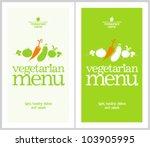 restaurant vegetarian menu...   Shutterstock .eps vector #103905995