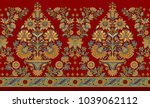 seamless traditional indian... | Shutterstock . vector #1039062112