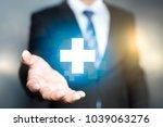 businessman offer positive... | Shutterstock . vector #1039063276