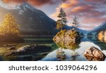 awesome alpine highlands in... | Shutterstock . vector #1039064296