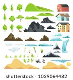 cartoon landscape vector... | Shutterstock .eps vector #1039064482