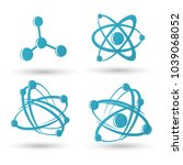 atom icons set | Shutterstock .eps vector #1039068052
