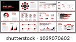 presentation template design.... | Shutterstock .eps vector #1039070602