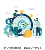 vector illustration finance.... | Shutterstock .eps vector #1039074916