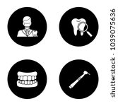 dentistry glyph icons set.... | Shutterstock .eps vector #1039075636