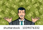 successful businessman and... | Shutterstock .eps vector #1039076332