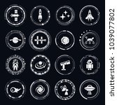 space vector icons | Shutterstock .eps vector #1039077802