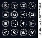 physics vector icons | Shutterstock .eps vector #1039078048