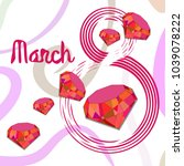 greeting card for march 8.... | Shutterstock .eps vector #1039078222