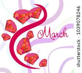 greeting card for march 8.... | Shutterstock .eps vector #1039078246