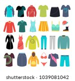 female and male clothes and... | Shutterstock .eps vector #1039081042