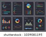 multipurpose business... | Shutterstock .eps vector #1039081195