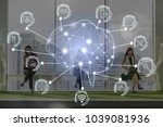 polygonal brain shape of an... | Shutterstock . vector #1039081936