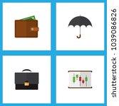 icon flat finance set of chart  ...   Shutterstock .eps vector #1039086826