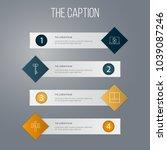 icon line estate set of... | Shutterstock .eps vector #1039087246