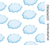 Seamless texture of the clouds. Illustration on white background - stock vector