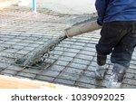 closeup shot of concrete... | Shutterstock . vector #1039092025
