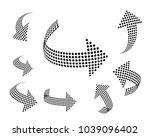 set of vector arrow icons.... | Shutterstock .eps vector #1039096402